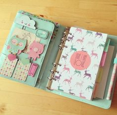 My mint Kikki K planner set up