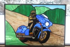 Commissioned  motorcycle piece from www.treasuresoflight.com