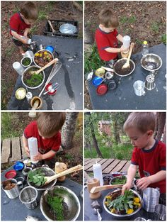 There is nothing like the summer mud kitchen!