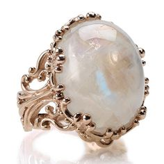 Rose Gold Moonstone Ring.   One of my favorite gemstones!