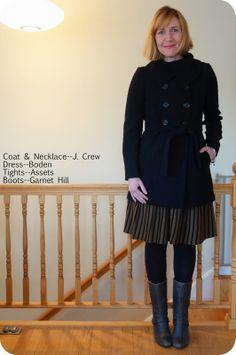 4c9eff1d03f My Superfluities Boden Amelie Dress J. Crew Ingenue Coat Garnet Hill Grey  Boots Grey Boots