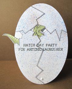 Custom Hatch Day Party Dinosaur Birthday Invitation 500 Via Etsy