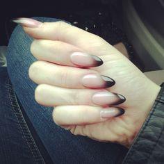 #ombre french tips . #nails #nailpolish