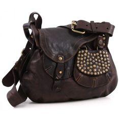 Campomaggi Lavata Shoulder Bag Leather dark-brown 30 cm