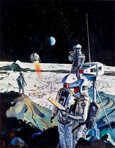 Promotional paintings for 2001: A Space Odyssey (MGM, 1968)