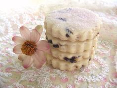 Lovely little cherry almond tea biscuits.