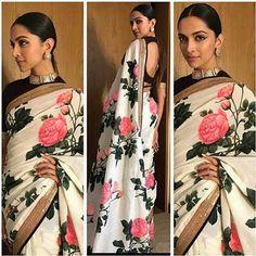 New ideas for bridal saree blouse designs deepika padukone Deepika Padukone Saree, Deepika In Saree, Bollywood Saree, Sonakshi Sinha, Kareena Kapoor, Bollywood Fashion, Sabyasachi Sarees, Indian Sarees, Anarkali