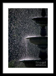 Fountain Framed Print featuring the photograph Sparkling Waters #3 by Girts Gailans. #art #fountains