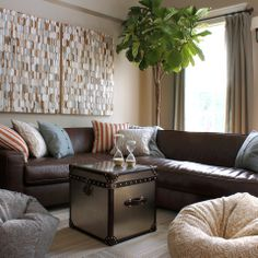 Brown Leather Design Ideas, Pictures, Remodel, and Decor - page 10