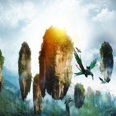 Flying islands on Pandora (Avatar)