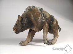 Orcdog | sculpture in Fimo clay, painted by acrylic colours