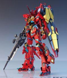 GUNDAM GUY: MG 1/100 Unicorn Gundam 03 Neo Zeon Full Frontal - Customized Build
