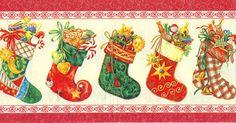 cenefas para todo | Aprender manualidades es facilisimo.com Christmas Trimmings, Christmas Frames, Christmas Tag, Christmas Pictures, Christmas Greetings, Vintage Christmas, Christmas Stockings, Christmas Ornaments, Old Time Christmas