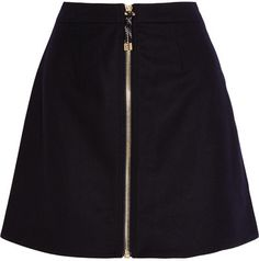 Acne Studios - Prisca Wool-blend Twill Mini Skirt - Midnight blue | #Chic Only #Glamour Always