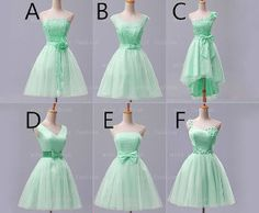 cheap bridesmaid dress,knee-length bridesmaid dress,mint bridesmaid dress,lace bridesmaid,short prom dress,wedding bridesmaid dress.