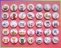 Hey, I found this really awesome Etsy listing at https://www.etsy.com/listing/399278545/35-chores-magnets-pins-or-flatbacks-1-to