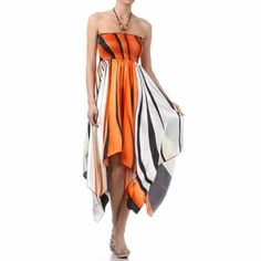 Swirl Design Satin Halter Dress