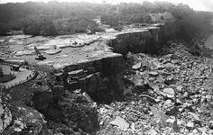 Niagara Falls with no water in 1969