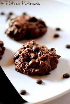 Patce's Patisserie: Double Chocolate Chip [Makronen] Cookies