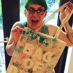 Do you need a new bag? Do you need a new bag with rudies on it? Spattered goodness from Phoenix and the Cub via