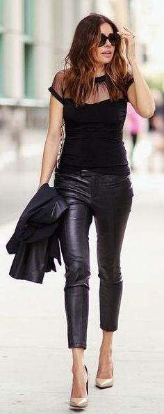 Fashioned C H I C Black And Nude Urban Chic Outfit #Fashionistas