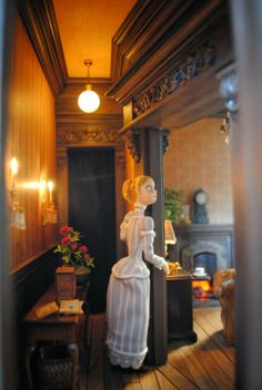 I love this house, but would leave the doll out... Custom Dollhouses by Liz