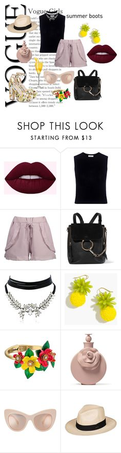 """""""VOGUE girls"""" by cristhyne-torres on Polyvore featuring moda, A.L.C., Chloé, WithChic, J.Crew, Betsey Johnson e Roxy"""