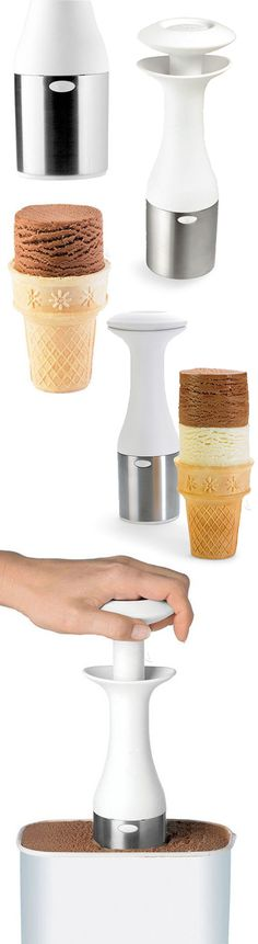 Easier way to scoop and stack your ice cream #product_design