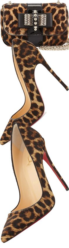 Christian Louboutin So Kate Calf Hair Red Sole Pump and Christian Louboutin Sweet Charity Small Calf Hair Shoulder Bag
