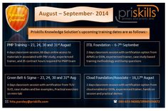 Join Priskills Classroom Training Session in August and September batches and avail upto 15% discount. Enroll Now!!