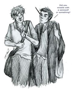 Remus Lupin and Frank Longbottom by kabtor