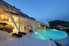 Alberto Rubio - Project - Rockstar Villa Curved edge pool. Pinned to Pool Design by Darin Bradbury.