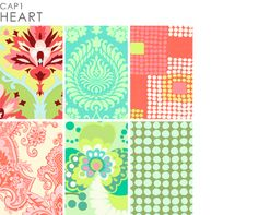 Amy Butler fabric-kind of a pain to figure out how /where to buy, but cute fabric and she even sells wallpaper!