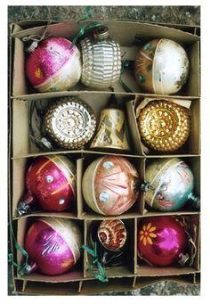 More Vintage Shiny Brites Ornaments...