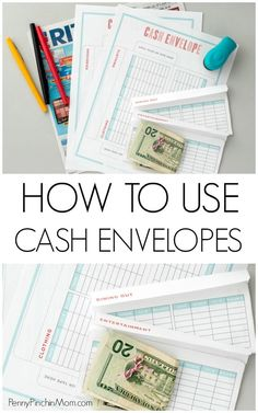 Cash Envelope System   How to Create a Budget   How to Get Out of Debt   Personal Finance   Saving Money   Cash Budget via @PennyPinchinMom
