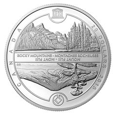 Fine Silver Coin - UNESCO at Home and Abroad - Mount Fuji and Canadian Rockies - Mintage: Canadian Coins, One Coin, Mount Fuji, Canadian Rockies, 1 Oz, Silver Coins, Rocky Mountains, Butterflies, Ebay