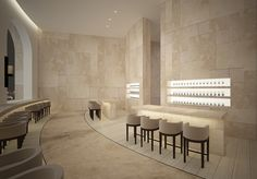 Bar area - shining at back is good....ABASALOM hotel - Bar II