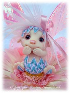 FREE SHIPPING OOAK art doll Flower Faerie fae fairy troll cute sculpture Christmas ornament Daisy gift present