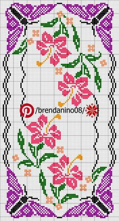 Cross Stitch Boarders, Cross Stitch Rose, Cross Stitch Flowers, Cross Stitch Designs, Cross Stitching, Cross Stitch Embroidery, Hand Embroidery, Cross Stitch Patterns, Loom Patterns