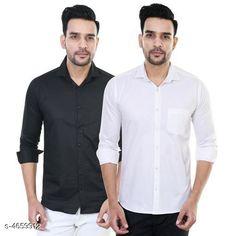 Shirts Designer Men Shirts Fabric: Satin Sleeve Length: Long Sleeves Pattern: Solid Multipack: 2 Sizes: XL (Chest Size: 42 in Length Size: 30 in)  L (Chest Size: 40 in Length Size: 29 in)  M (Chest Size: 38 in Length Size: 28 in) Country of Origin: India Sizes Available: M, L, XL   Catalog Rating: ★4 (442)  Catalog Name: Comfy Men Shirts CatalogID_676188 C70-SC1206 Code: 184-4659912-5121