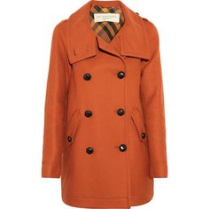 Burberry Brit Double-breasted wool-blend coat ($1,195) ❤ liked on Polyvore