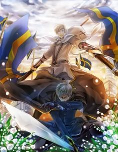 hetalia sweden and finland this is just too gorgous of artwork to pass up