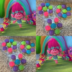 Trolls Cupcakes!! These were fun I love working with color. I used color gel to make these vibrant colored cupcakes and buttercream frosting.