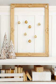 Unique way to display ornaments // #leonshelloholiday, christmas, holiday, white christmas, decor, diy