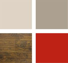 Wood, tan, red... I won't have as much grey more browns.. but this is the colors of my new living room