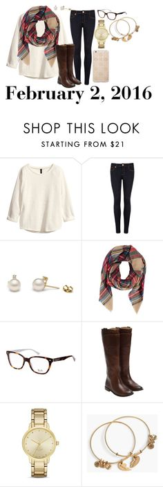 """""""February 2, 2016"""" by jennie-le on Polyvore featuring H&M, Ted Baker, Ray-Ban, Frye, Kate Spade, Alex and Ani, Sonix, women's clothing, women's fashion and women"""