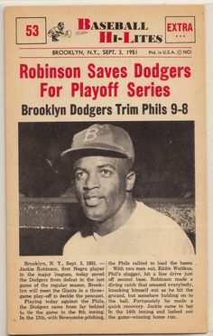 Dodgers Blue Heaven: 5 Cool Vintage Jackie Robinson Cards You Can Own Without Going Broke Dodger Blue, Jackie Robinson, Dodgers, Heaven, Cards, Vintage, Black, Sky, Heavens