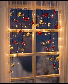 LED Lichtervorhang Lichterkette mit Christbaum Kugeln Weihnachten Weihnachtsdeko in Möbel & Wohnen, Feste & Besondere Anlässe, Jahreszeitliche Dekoration | eBay!