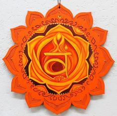 2nd Chakra, Sacral Chakra, Chakra Healing, Chakra Symbols, Spiritual Symbols, Meditation Art, Chakra Meditation, Plaque Design, Mandala Painting