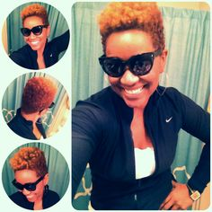 No longer compromising fitness bc of my hair, 4C natural = freedom! #creamycrackless